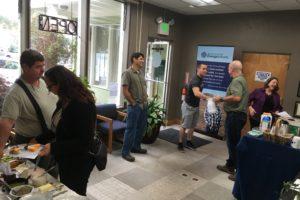 people mingling in RCEA lobby