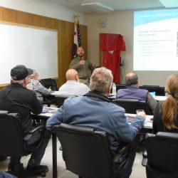 People attending workshop in RCEA Boardroom