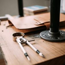 contractors tools on a desk