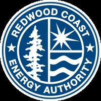 Redwood Coast Energy Authority Logo- a blue circle with the words Redwood Coast