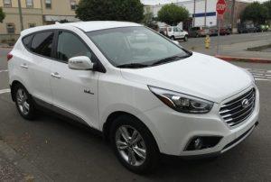 White SUV style EV