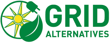 grid alternatives logo= plug around the sun