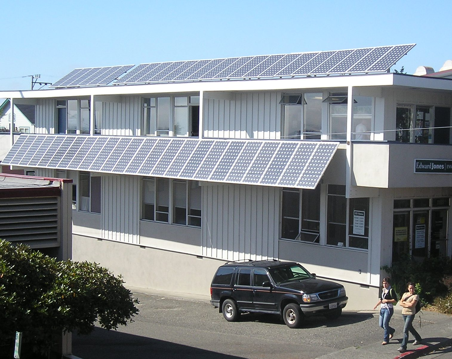 imge of Redwood Alliance Building with solar panels