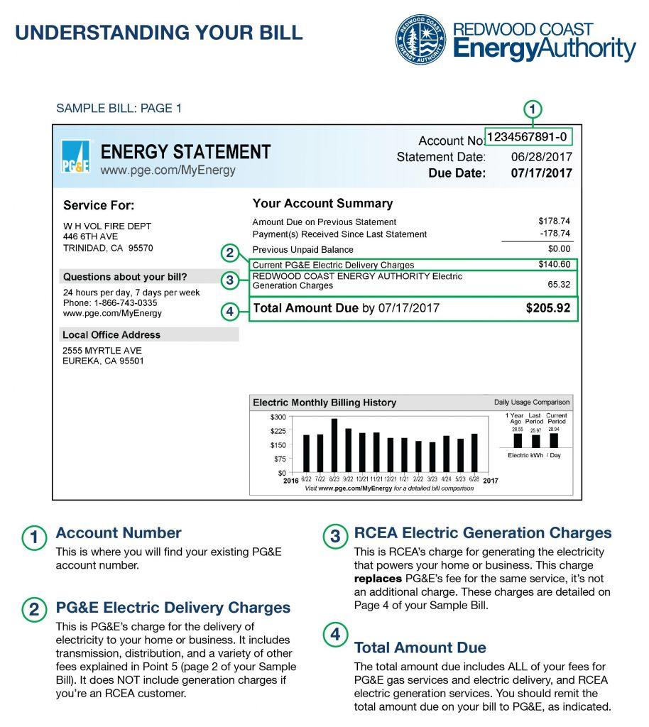 Sample energy statement