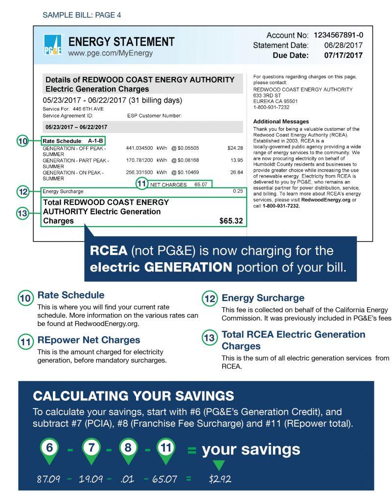 Detail of Redwood Coast Energy Authority on energy statement