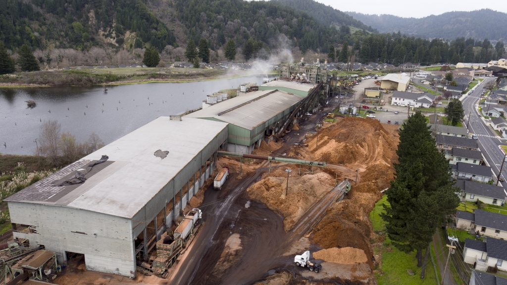 Humboldt Redwood Company's biomass power plant in Scotia