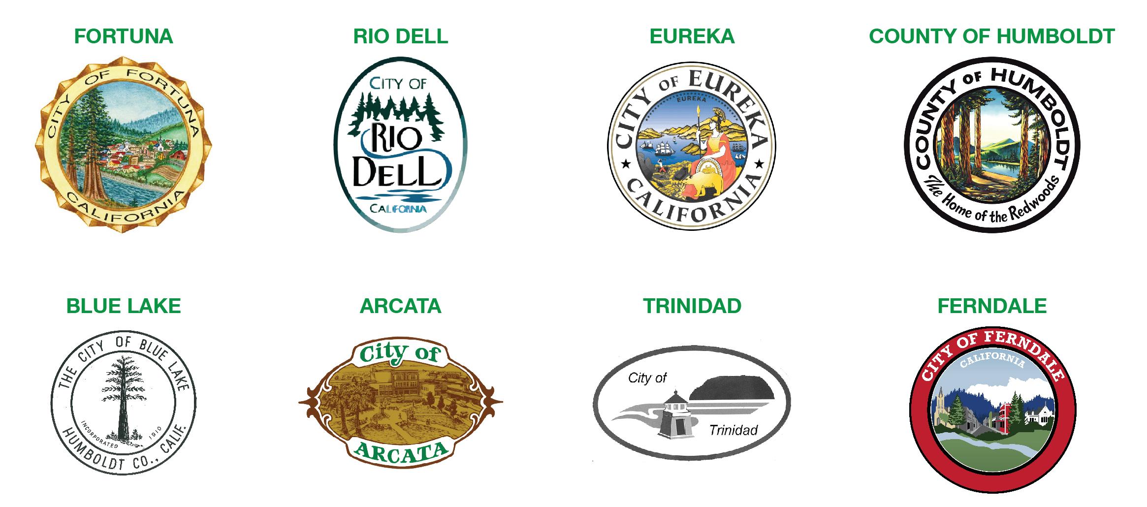 City Seals of Humboldt cities