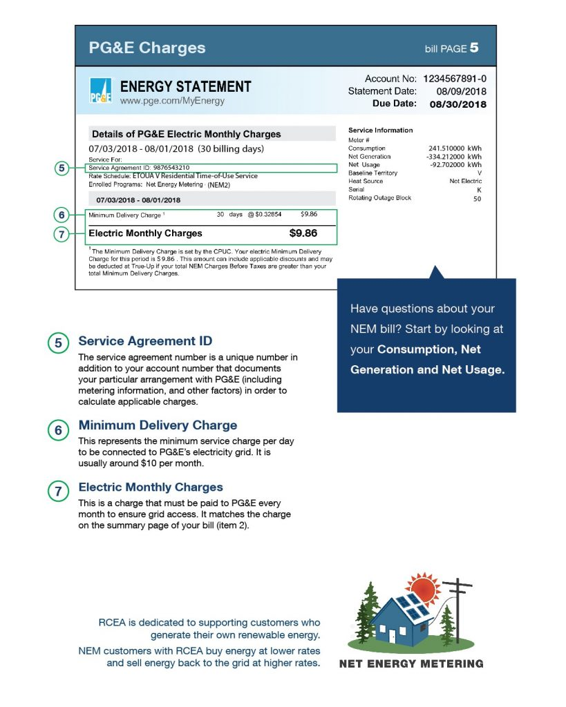 how to read your Net Energy Metering bill page 2