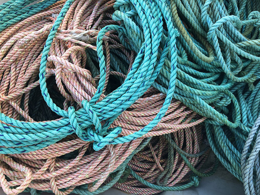 Pink and blue rope