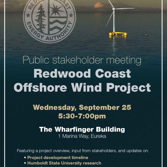 RCEA Offshore Wind public stakeholder meeting flyer
