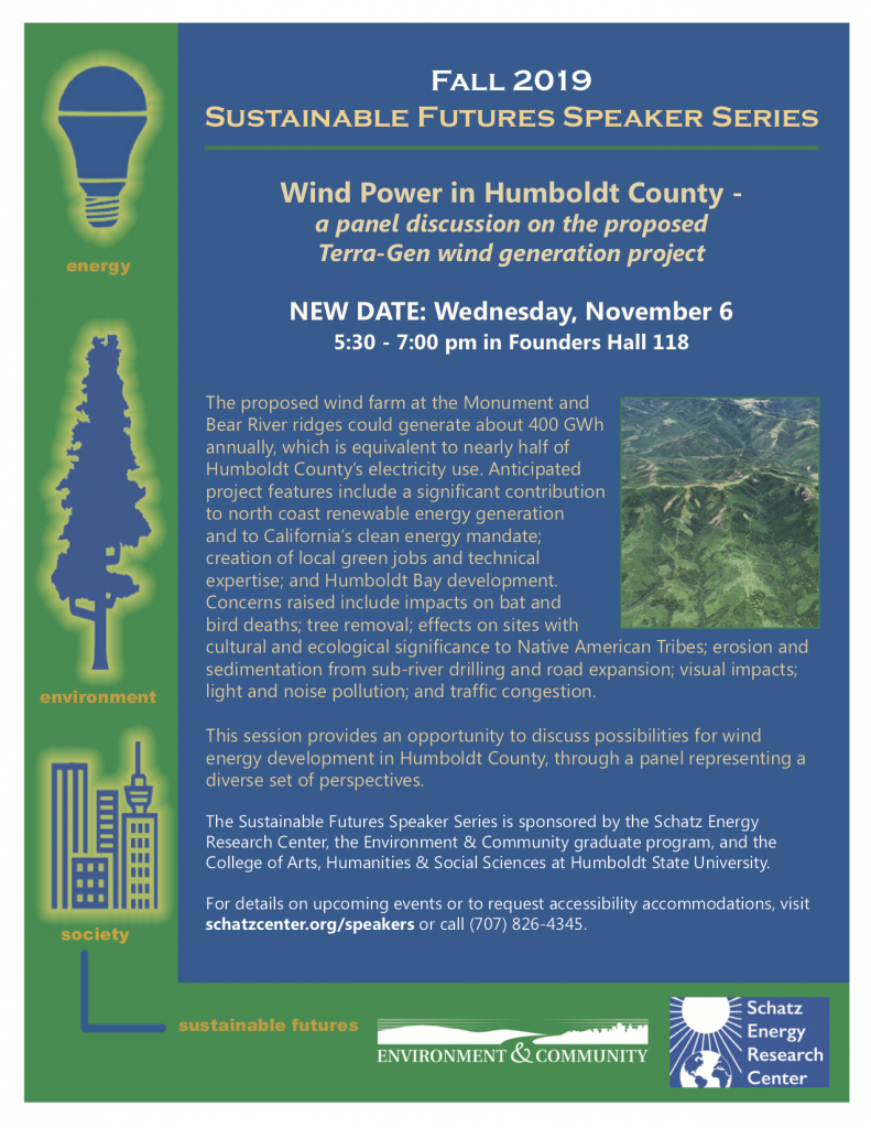 Terra-Gen Wind Generation Project discussion flyer