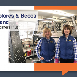 Dolores and Becca Blanc are happy customers with their new lighting