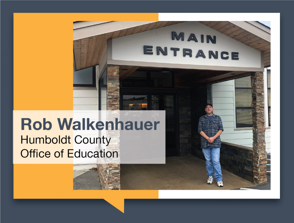 Rob Walkenhauer in front of the Humboldt County Office of Education