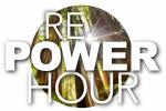 RePower Hour in bold text in front of redwood trees