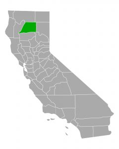 CA map highlighting Shasta county