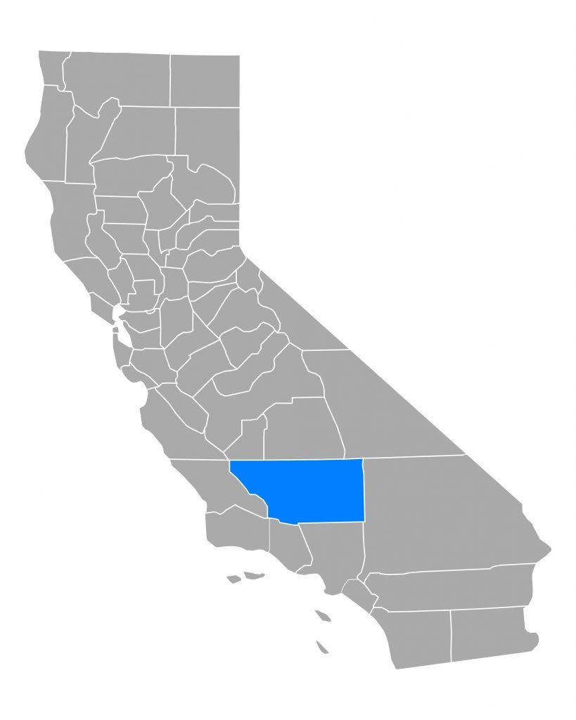 CA map highlighting Kern county