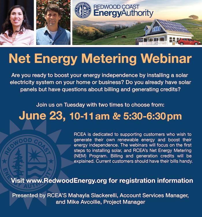 net energy metering webinar informational flyer