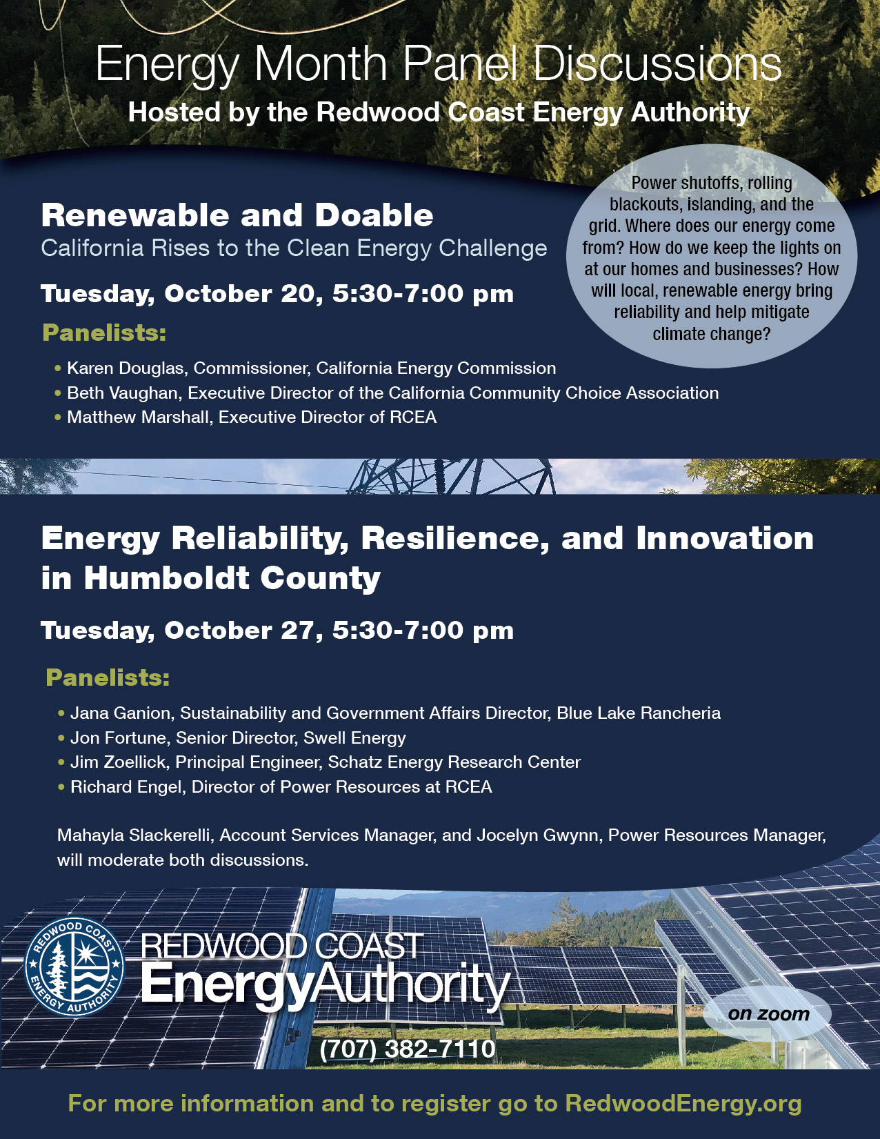 Energy Month Panel Discussions flyer