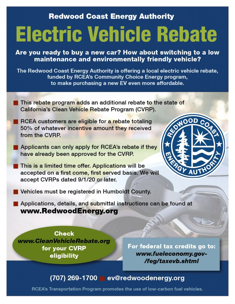 Electric Vehicle Rebate Flyer