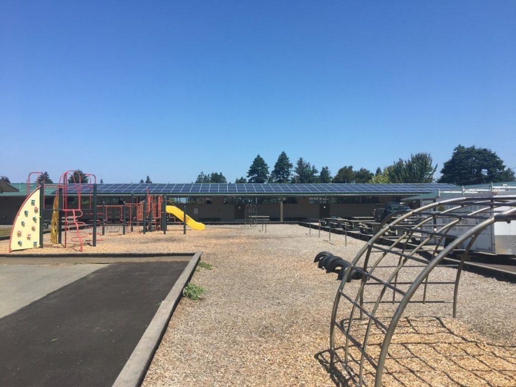 solar panels on Ridgewood Elementary in Cutten
