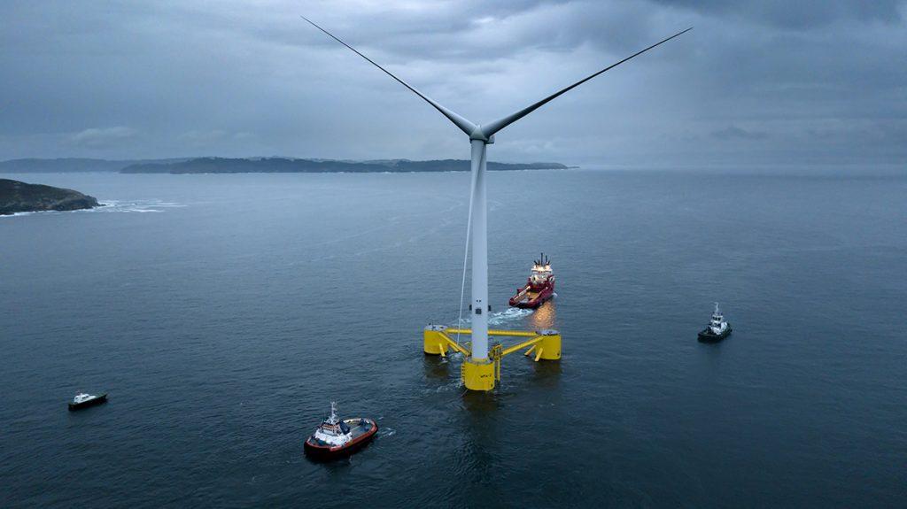 Photo of a sailoff of one of Principle Power's turbines